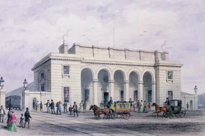 The South-Western Railway Station at Nine Elms Vauxhall, 1856 by Thomas Hosmer Shepherd