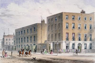 View of Soho Square and the Catholic Chapel, 1850