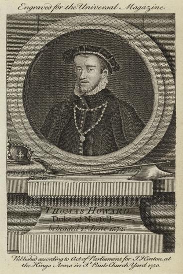 Thomas Howard, Duke of Norfolk, Beheaded 2nd June 1572--Giclee Print