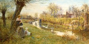 Watching the Ducks by Thomas James Lloyd