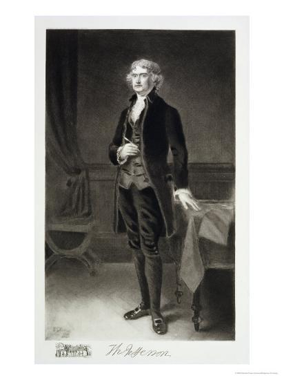 Thomas Jefferson, 3rd President of the United States of America, 1884, Published 1901-Eliphalet Frazer Andrews-Giclee Print