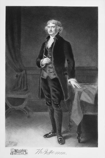 Thomas Jefferson, 3rd President of the United states of America, (1901)-Unknown-Giclee Print