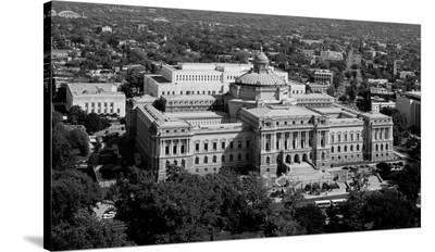 Thomas Jefferson Building from the U.S. Capitol dome, Washington, D.C. - B&W-Carol Highsmith-Stretched Canvas Print