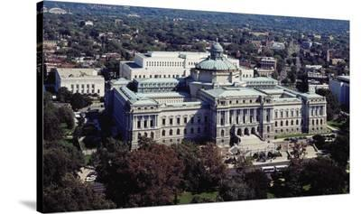 Thomas Jefferson Building from the U.S. Capitol dome, Washington, D.C. - Vintage Tint-Carol Highsmith-Stretched Canvas Print