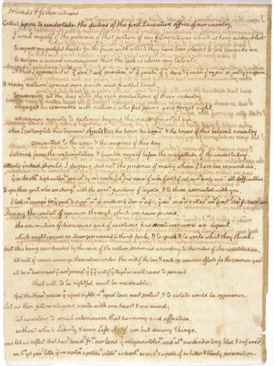 Thomas Jefferson's First Inaugural Address Written in His Own Hand, 1801--Art Print