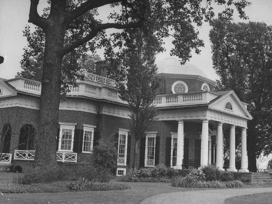 Fine Thomas Jeffersons Home Monticello 1770S Photographic Print By Art Com Download Free Architecture Designs Parabritishbridgeorg