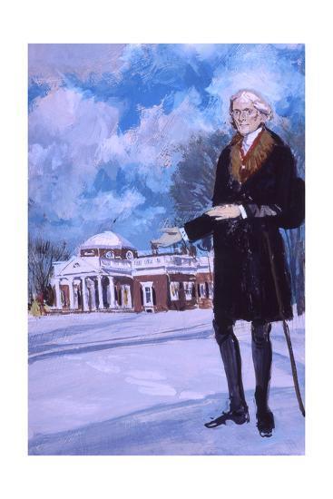 Thomas Jefferson, the Man from Monticello-Stanley Meltzoff-Giclee Print