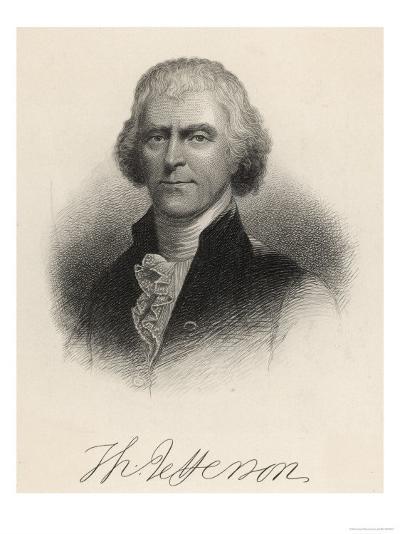Thomas Jefferson Third President of the United States--Giclee Print