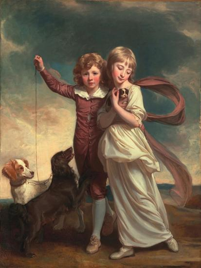 Thomas John Clavering and Catherine Mary Clavering: the Clavering Children, 1777-George Romney-Giclee Print