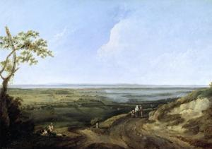 View of Portsmouth from Portsdown Hill by Thomas Jones