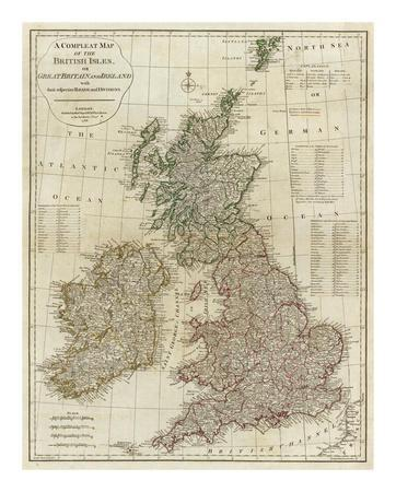 A Complete Map of the British Isles, c.1788