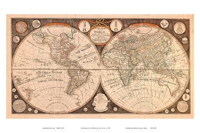 A New Map of the World - with all the New Discoveries by Capt. Cook and Other Navigators