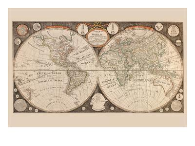 A New Map of the World : with All the New Discoveries by Capt. Cook and Other Navigators