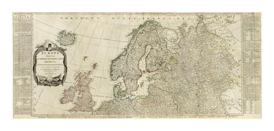 Northern Europe Divided into its Empires, Kingdoms, States, Republics, c.1787
