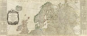 Northern Europe Divided into its Empires, Kingdoms, States, Republics, c.1787 by Thomas Kitchin