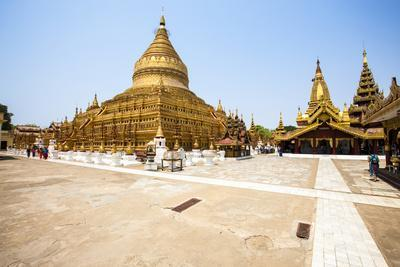 The Shwezigon Pagoda (Shwezigon Paya), a Buddhist Temple Located in Nyaung-U, a Town Near Bagan