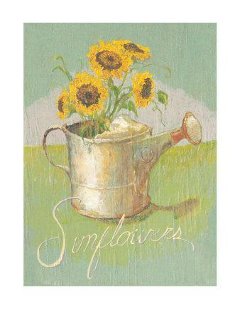 Watering Can with Sunflowers