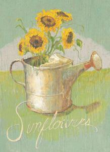 Watering Can with Sunflowers by Thomas LaDuke