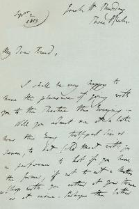 A letter from Sir Thomas Lawrence, 1819 (1904) by Thomas Lawrence