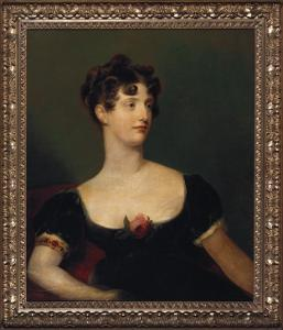 Portrait of Lady Beresford, Seated, Half-Length in a Black Dress Decorated with a Rose by Thomas Lawrence