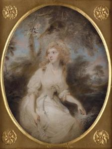 Portrait of Mrs Anna Maria Braine, Mid-1780s by Thomas Lawrence