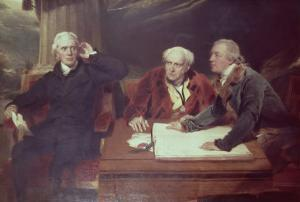 Sir Francis Baring, Banker and Director of the East India Company, with His Associates by Thomas Lawrence