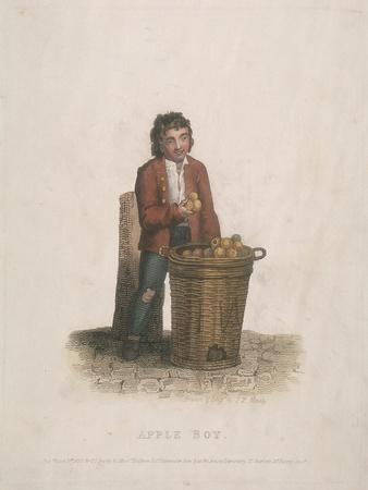 Apple Seller with a Large Basket of Fruit, 1820