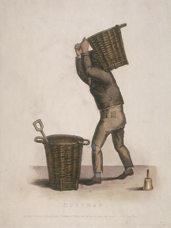 Dustman Carrying a Basket of Refuse on His Back, 1820