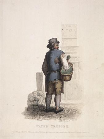 Watercress Seller with a Basket on His Arm, 1820
