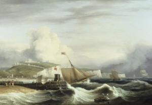 A Cutter and other Shipping off Dover, 1817 by Thomas Luny