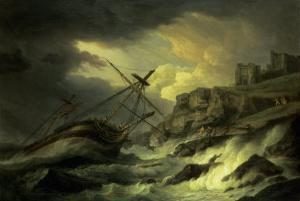"A Shipwreck, Said to be ""The Dutton"" by Thomas Luny"