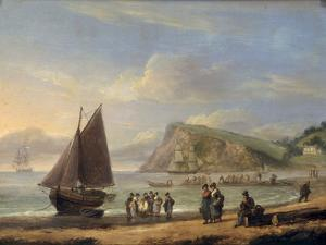 A View of Ness Point - Teignmouth, Devon, 1826 by Thomas Luny