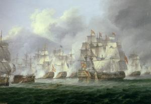 Battle of Cape St. Vincent, 14th February 1797: the British Defeat the Spanish by Thomas Luny