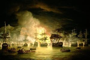 Bombardment of Algiers, August 1816, 1820 by Thomas Luny