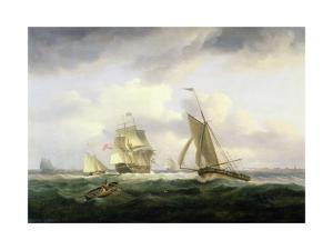 In the Channel by Thomas Luny