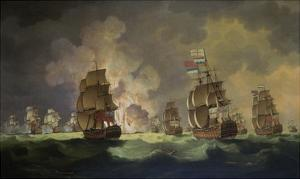 Nighttime Naval Battle Near St. Vincent (On January 16Th, 1780) by Thomas Luny