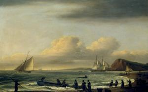 Pulling in the Nets, Teignmouth by Thomas Luny