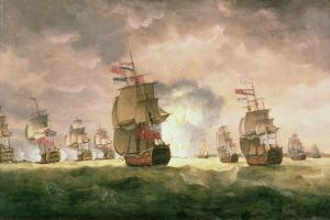 Rodney's Victory Off Cape St. Vincent by Thomas Luny