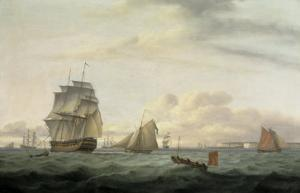 Shipping off Ramsgate Harbour, 1807 by Thomas Luny