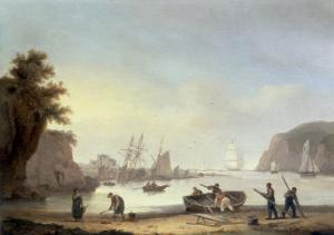 Teignmouth and the Ness, Devon, 1825 by Thomas Luny