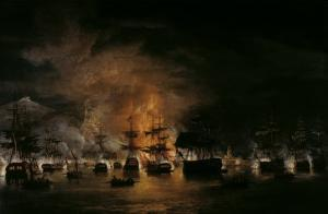 The Bombardment of Algiers, 1819 by Thomas Luny