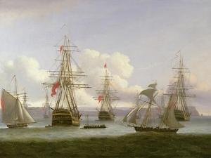 The Exile's Departure, 1826 by Thomas Luny