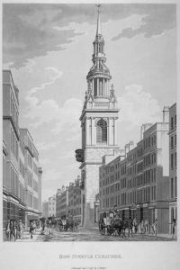 Church of St Mary-Le-Bow, Cheapside, City of London, 1798 by Thomas Malton II
