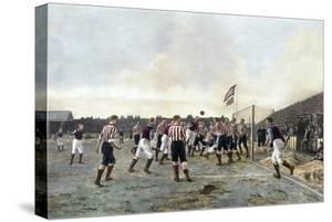 Aston Villa V Sunderland, 1893 by Thomas Marie Madawaska Hemy