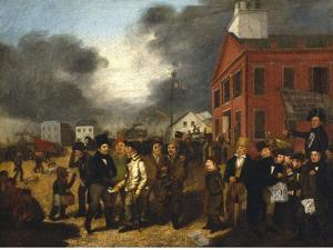 First State Election in Detroit, Michigan, c.1837 by Thomas Mickell Burnham