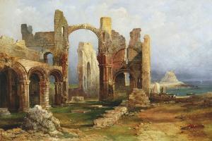Lindisfarne Priory, C.1837 by Thomas Miles Richardson