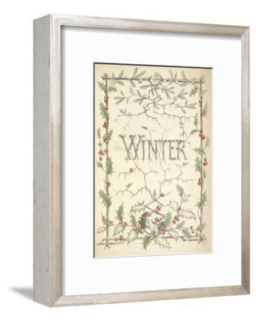 Winter - Title Page Illustrated With Holly, Icicles and Mistletoe