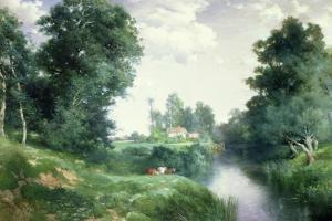 A Long Island River, 1908 by Thomas Moran