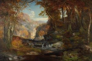 A Scene on the Tohickon Creek: Autumn, 1868 by Thomas Moran