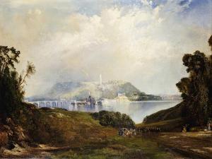 A View of Fairmont Waterworks, Philadelphia by Thomas Moran